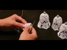 Szydełko Wioli Jak zrobić dzwonek na szydełku - YouTube Crochet Angels, Crochet Art, Crochet Home, Crochet Doilies, Christmas Tree Ornaments, Christmas Decorations, Holiday Decor, Handmade Soft Toys, Holiday Crochet