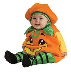 UHC Baby's Pumpkin Jumper Infant Outfit Fancy Dress Halloween Costume, 6-12M >>> You can find more details at