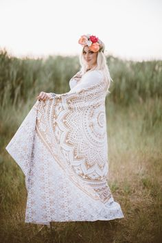 ✩ Her Blonde Hair is Beautiful! Spring & Summer Time Brides with a Bohemian Style Wedding☽ ✩ Save 25% off all orders with code PINTERESTXO at checkout with Lady Scorpio | Alyson Johnson Peterson Build Your Beautiful Blogger Wrapped in the Gold Mandala Tapestry | Crystal Wrap Everwear Bracelets Shop LadyScorpio101.com @LadyScorpio101 | Photography by Ashley Swenson | Flower Crown: The Lovely Avenue in SLC Utah | Hair Makeup: @Rach.KissNMakeup