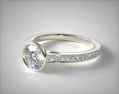 Diamond Engagement Rings Tension Engagement Setting in White Gold - Ring price excludes center diamond. Vintage Gold Engagement Rings, Cushion Cut Engagement Ring, Platinum Engagement Rings, Engagement Ring Settings, Platinum Ring, Bezel Engagement Rings, Oval Engagement, Gold Ring Price, Diamond Wedding Bands