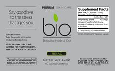 BIO Relax 60 ct vegetarian capsules -