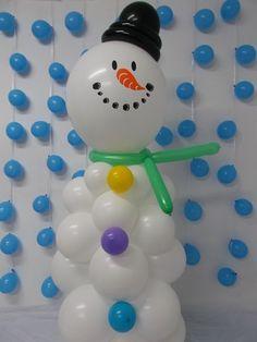 Como hacer un mu eco de nieve con globos buscar con - Como hacer un muneco ...
