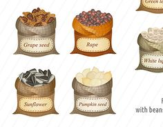 """Check out new work on my @Behance portfolio: """"Untied sacks with cereals and…"""
