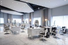 Beauty salon decorating ideas photos modern hair salon for Disenos de peluquerias
