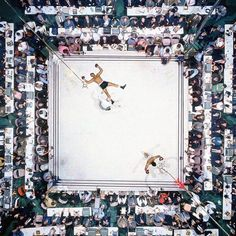 Muhammad Ali and Cleveland Williams,Houston Astrodome - Photography by Neil Leifer (1966)