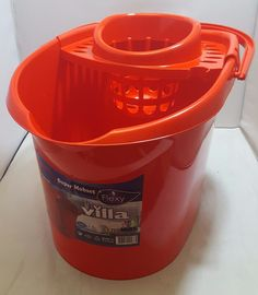14 LTR Strong Large Plastic Mop Bucket Cleaning Basket Commercial Home Office  #VILLA