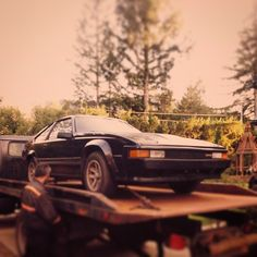 My 1984 Toyota Celica Supra I hope you all have a Supra-wonderful day! ;) #Toyota #Supra #CelicaSupra #MKIISupra #punny