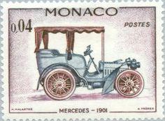Stamp: Mercedes 1901 (Monaco) (Old cars) Mi:MC 676,Yt:MC 560