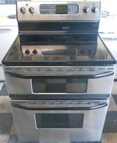 Liance City Maytag Gemini Free Standing Electric Range Gl Top Double Oven Self Clean Both