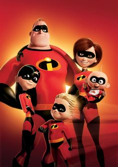 The incredibles, cartoon family funny action adventure, available on netflix dvd plan
