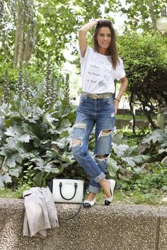 "Marta Carriedo (It Girl) whith ""WHEN I SEE YOU"" tee"