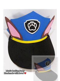 Your place to buy and sell all things handmade Paw Patrol Halloween Costume, Paw Patrol Costume, Sun Visor Hat, Visor Hats, Paw Patrol Disfraz, Birthday Party Favors, Birthday Parties, Chase Costume, Paw Patrol Hat