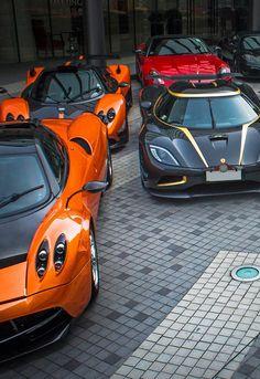 Pagani Huayra  x  Koenigsegg Agera S Hundra  x  Pagani Zonda Cinque  x  Ferrari 599 GTO  x  Ferrari 360