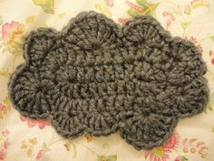 crochet cloud | video tutorial