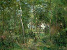 Camille Pissarro (1830-1903), Sous bois à l'Hermitage, Pontoise, 1879, huile sur toile, 126 x 162cm, Cleveland Museum Of Art