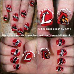 Cardinals nails  U of L go cards