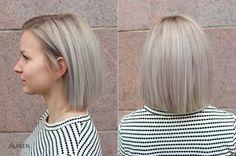 Tyylikäs hopeanharmaan hiusten värjäys