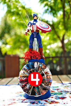 una fiesta de cumpleaños de super heroes
