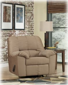 Flash Furniture Signature Design by Ashley Dominator Rocker Recliner in Mocha Fabric Furniture Styles, Bed Furniture, Dining Room Furniture, Loveseat Recliners, Bench Designs, Reclining Sofa, Living Room Bedroom, Contemporary Furniture, Home Decor