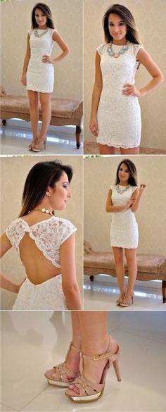 ab41f1051c Cómo elegir vestido blanco para boda civil - El Cómo de las Cosas Backless  Homecoming Dresses