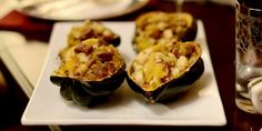 Vegan Savory Stuffed Squash | Recipes | Food | Living | PETA - I like that this stuffed squash recipe doesn't seem too heavy, making it a great entree that will work with other Thanksgiving side dishes.