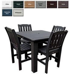 Outdoor Poly Furniture: Highwood Furniture Square 5 Piece Lehigh Counter Height Square Table set from OutdoorPolyFurniture.com