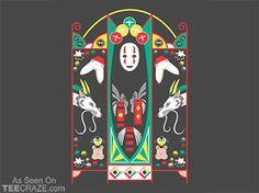 Spirited Deco T-Shirt - http://teecraze.com/spirited-deco-t-shirt/ -  Designed by kannaya