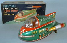 Space Rockets - SPACE PATROL FIRE BIRD - MASUDAYA - ALPHADROME ROBOT AND SPACE TOY DATABASE