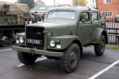 Brooklands Museum Military Vehicles Day - 1956 Volvo TP21 (SUGGA) Swedish Army Radio & Command Vehicle (KSU 292) by growler2ndrow, via Flickr
