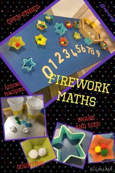 Firework Maths- for Bonfire Night and Diwali. Children choose how to use the resources themselves (missamyp)