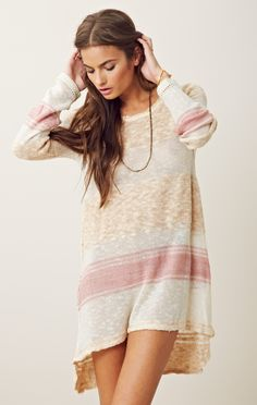 Free People Blocks Of Stripes Pullover