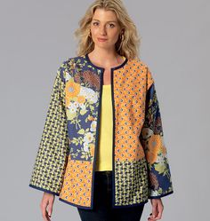 Misses' Patchwork Jackets, K4086 http://kwiksew.mccall.com/k4086-products-48943.php?page_id=3013 #kwiksewpatterns