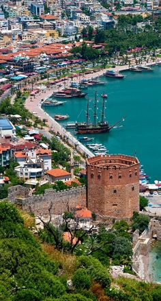 Harbour, View, Alanya, Turkey