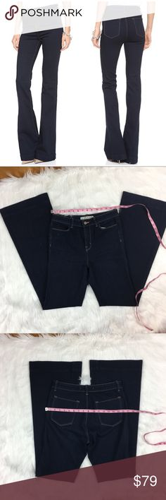 "J Brand ""The Doll"" Flares in Indigo J Brand ""The Doll"" Flares in Indigo. Size 29 with 35' inseam. I believe these are NWOT, they are in excellent condition. ❌I do not Trade 🙅🏻 Or model💲 Posh Transactions ONLY J Brand Jeans Flare & Wide Leg"