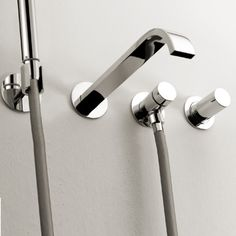 Lacava Arch Wall Mount Tub Faucet With Hand Shower modern bathroom faucets
