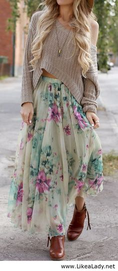 Spring florals #girly #boho