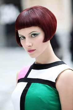 Lobe-Length Bob with Short Bangs