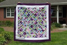 My Fabric Obsession: Must Love Purple - My Bloggers Quilt Festival Quilt