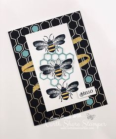 North Shore Stamper: Cased this beauty right out of the Sale-a-bration catty! Stampin Up Canada, Bee Cards, Stampinup, Bee Design, Stamping Up Cards, Card Sketches, Greeting Cards Handmade, Making Ideas, Cardmaking