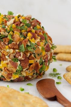 Southwestern Bacon Jalapeño Cheeseball -loaded with fabulous flavor!