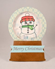 Gabrielle Lowe for Inspired Stamps: Snowman shaker card.