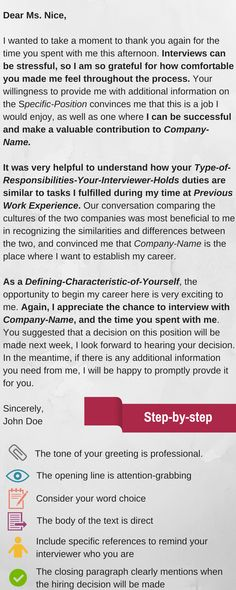 This example of the perfect thank-you letter will improve your lasting impression from the interview.