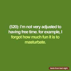 Masturbation marathon. #TFLN