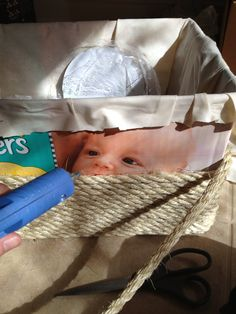 Turning a Diaper Box into a Basket | Red Stick Moms Blog