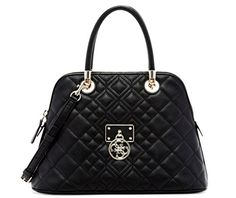 Women's Shoulder Bags - GUESS Womens Aliza Dome Satchel Black Satchel -- See this great product.