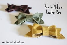 I recently came upon some colourful leather scraps at a discount store, and I couldn't wait to buy some and start working with it! I've never done anything with leather before, so I was starting from scratch! But if you have some good fabric scissors, strong thread, leather sewing needles, and strong glue, you can…