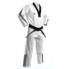 Dobok Taekwondo ADIDAS ADI-FLEX III cuello negro 3 rayas - €144.00   https://soloartesmarciales.com    #ArtesMarciales #Taekwondo #Karate #Judo #Hapkido #jiujitsu #BJJ #Boxeo #Aikido #Sambo #MMA #Ninjutsu #Protec #Adidas #Daedo #Mizuno #Rudeboys #KrAvMaga #Venum
