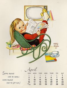 April The month I was born, the girl I was named after and so right for me!