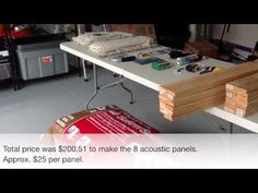 How to Build Acoustic Panels for Your Home Studio. This video is great for anyone who is looking to record music at home. Music Recording Studio, Home Studio Music, Sound Studio, Drums Studio, Bass Trap, Studio Build, At Home Movie Theater, Audio Room, Acoustic Panels