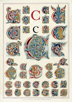 Owen Jones Alphabet 1864/letter C
